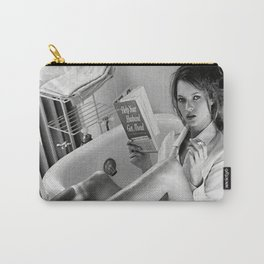 Kate Moss Reading in Bathtub, Fashion art, Fashion Print, Gifts for Her, Style, Carry-All Pouch