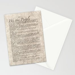 US Constitution - United States Bill of Rights Stationery Cards