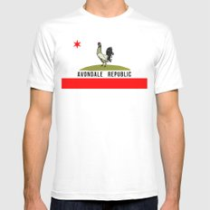 Avondale Republic White MEDIUM Mens Fitted Tee