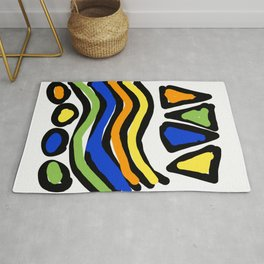 Triangles Waves and Circles Rug