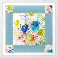 Fleurs Quilt Art Print