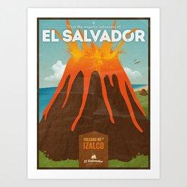 Volcanoes of El Salvador Art Print