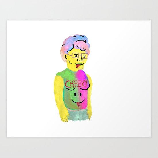 cheeky Peggy from King of the Hill Art Print