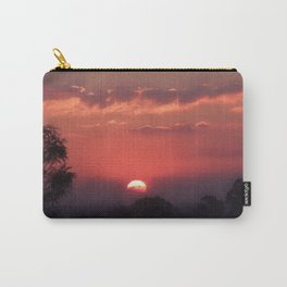 Sweet Pink Orange Sunset Carry-All Pouch