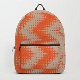 pattern growing squares chevron orange tan Backpack
