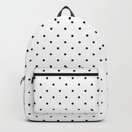 Small Black on White Polka Dots Backpack