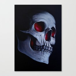 Acrylic Skull Canvas Print