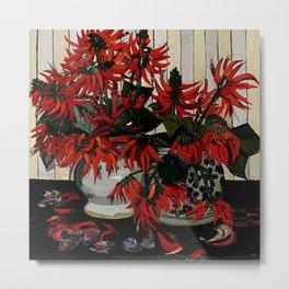 """Coral Flowers"" by Australian Artist Margaret Preston Metal Print"