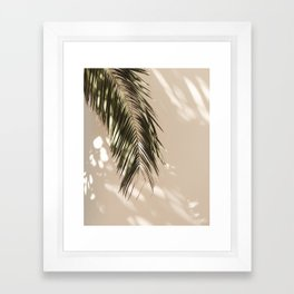 tropical palm leaves vi Framed Art Print