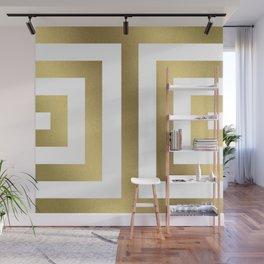 Gold Greek Stripes Wall Mural