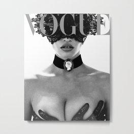 Vogue Print Vouge Poster Fashion Quote Fashion Decor Fashionista Fashion Poster Vogue Cover 1950  Metal Print