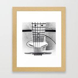 Guitar Strings - Black and White Framed Art Print