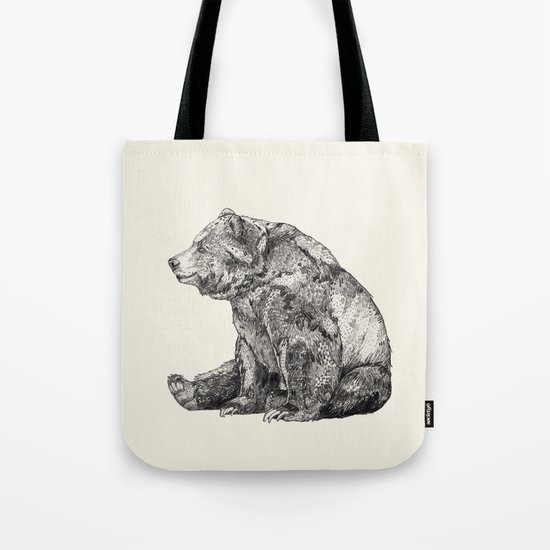 Bear // Graphite Tote Bag