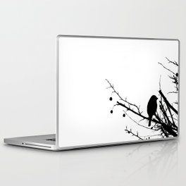 Black and White Bird in Tree Laptop & iPad Skin