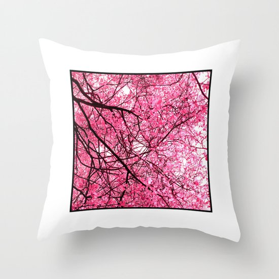 pink tree I Throw Pillow