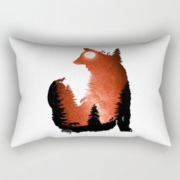 In the Swaying Forest Trees Rectangular Pillow