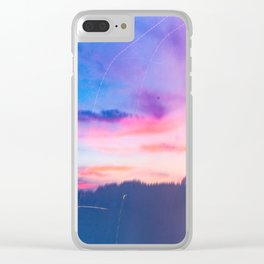 Cotton Candy Sunset Clear iPhone Case