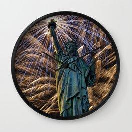 Liberty Fireworks Wall Clock