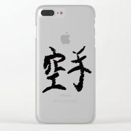 Karate Text Clear iPhone Case
