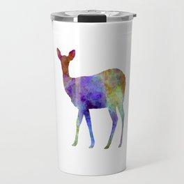 Female Deer 02 in watercolor Travel Mug