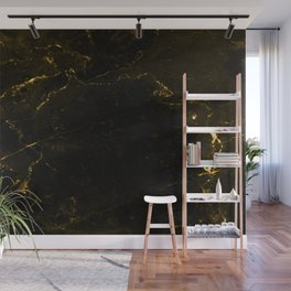 Black Gold Marble Wall Mural