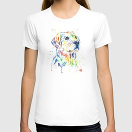 Yellow Lab Colorful Watercolor Painting - Puppy Star T-shirt