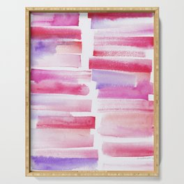 20 | 181101 Watercolour Palette Abstract Art | Lines | Stripes | Serving Tray
