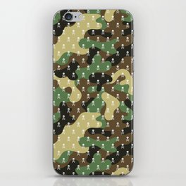 CAMO & WHITE SKULLS ALL OVER PRINT LARGE iPhone Skin