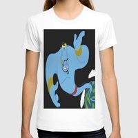 robin williams T-shirts featuring Genie (tribute to Robin Williams) by ItalianRicanArt