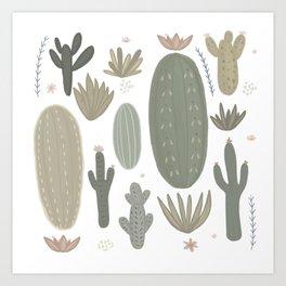 Cactus meadow Art Print
