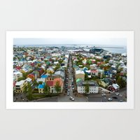 Reykjavik, Iceland. Art Print
