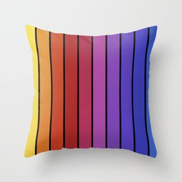 Color Block Lines Throw Pillow