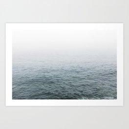 Foggy ocean blues Art Print