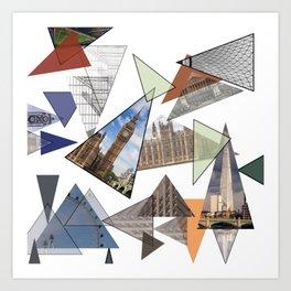 Abstract London Art Print