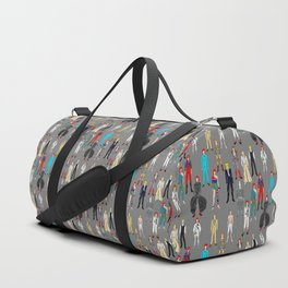 Gray Heroes Group Fashion Outfits Duffle Bag