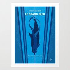 No577 My Big Blue minimal movie poster Art Print