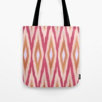 diamonds Tote Bags featuring DIAMONDS by pattern paint