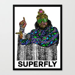 "Macho ""Superfly"" Man Canvas Print"