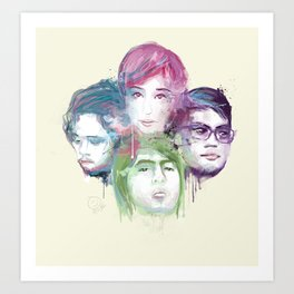 Up Dharma Down Art Print