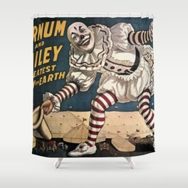 Vintage Circus Poster - Clown Shower Curtain
