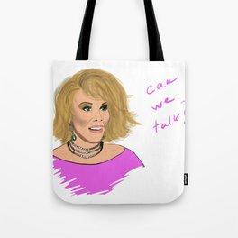 Can we talk? Tote Bag