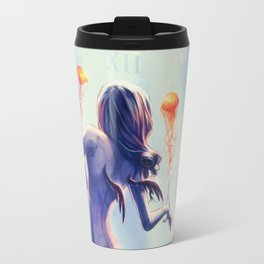 Underwater Clock - Jellyfishes Travel Mug