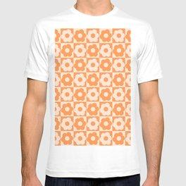 Floral Checker Orange T-shirt