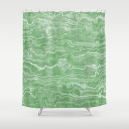Egyptian Marble, Jade Green Shower Curtain