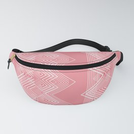 Coral ZigZag Pattern Design Fanny Pack