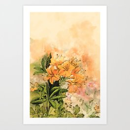 Growing Up #floral #society6 #watercolor Art Print