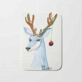 Frosty Reindeer- Not Amused Bath Mat