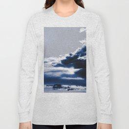 arctic blue landscape Long Sleeve T-shirt