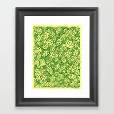 Floral Hops Framed Art Print
