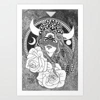 taurus Art Prints featuring Taurus by Jadranka Lacković / ojoMAGico